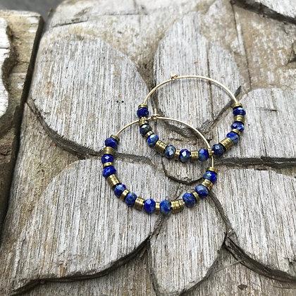Créoles Maxi Taweez Lapis Lazuli
