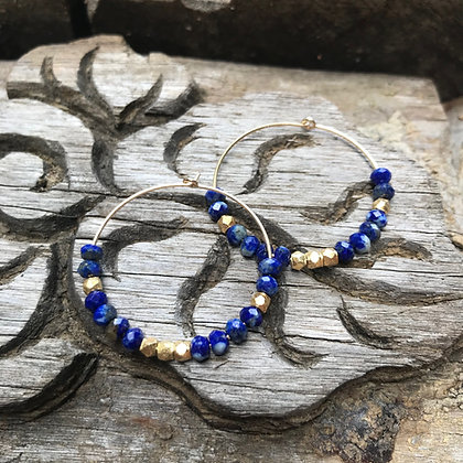 Créoles Maxi Shanti Lapis Lazuli