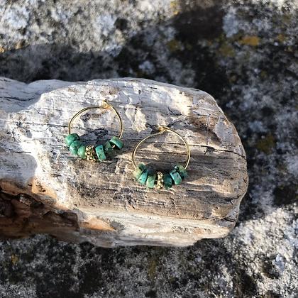 Créoles Mini Tanah Turquoise africaine