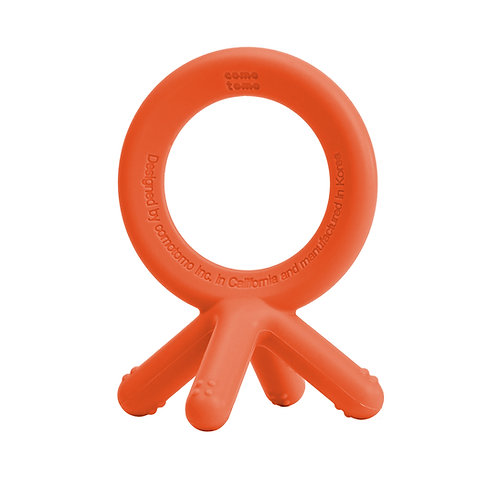 Orange Silicone Teether
