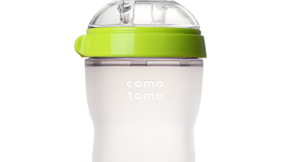 250 ml Silicone Baby Bottle, Green