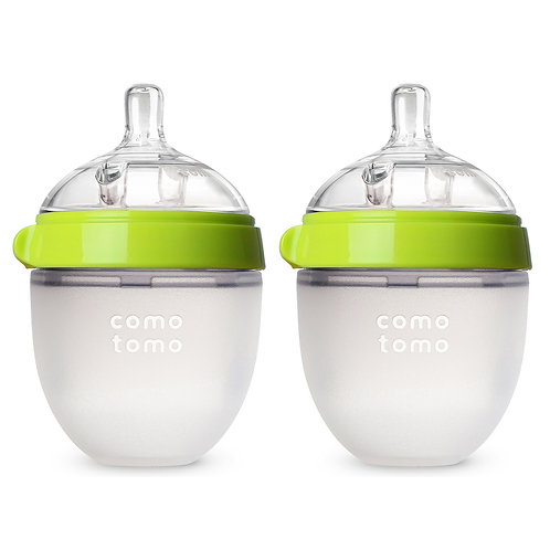Silicone Green Feeding Bottle (150ml) Pack of 2