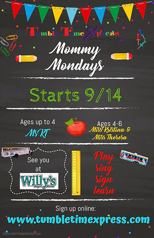 Back to Mommy Mondays - Made with Poster