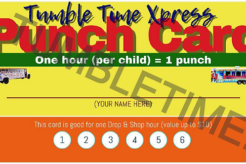 Drop and Shop Punch Card