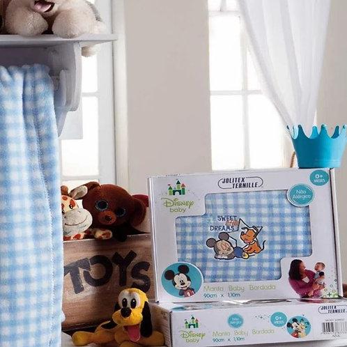 Manta Baby Bordada Infantil - Mickey