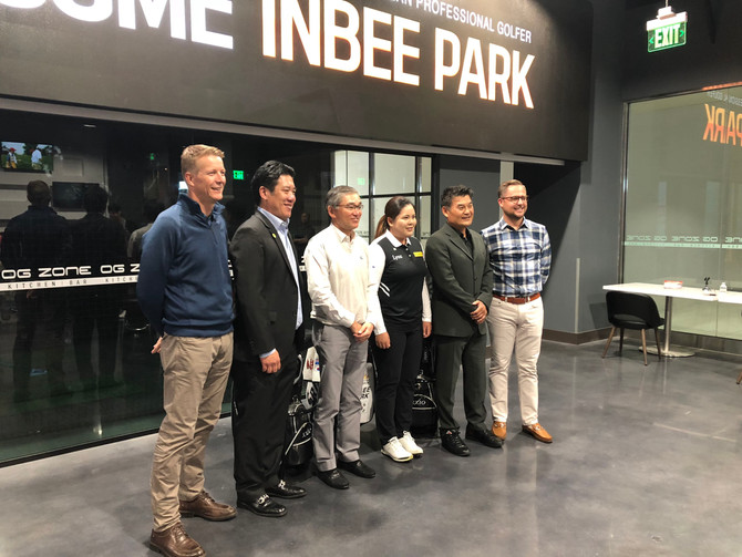 Golf Queen Inbee Park_OZ Zone Fan Meeting