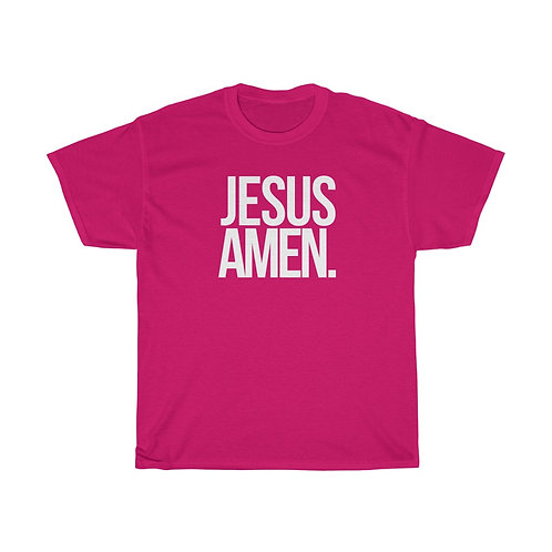 JESUS AMEN Unisex Heavy Cotton Tee