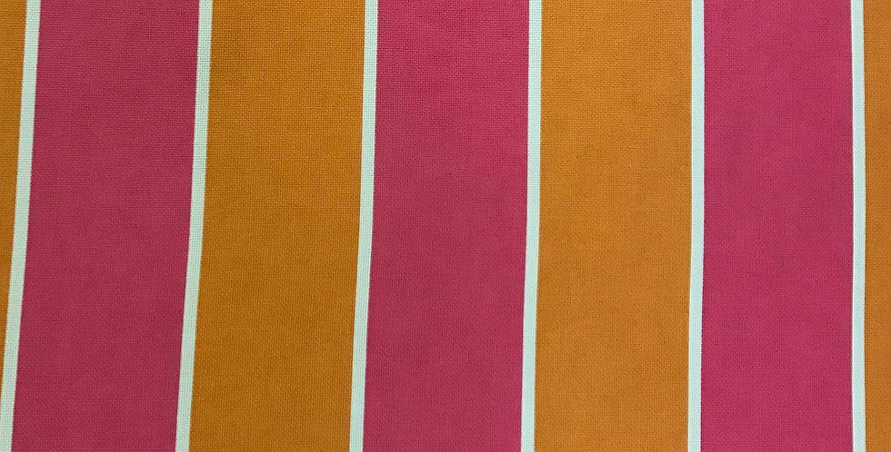 Cabana Wide Stripe - Pink and Orange