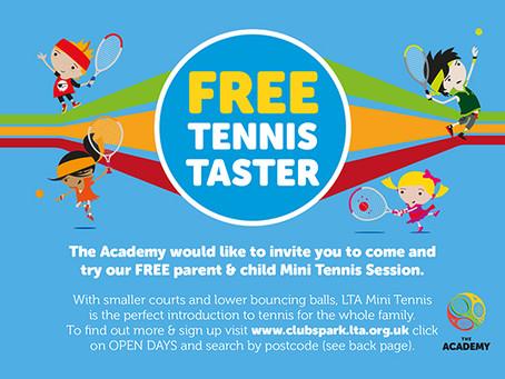 FREE Parent & Child Tennis Taster