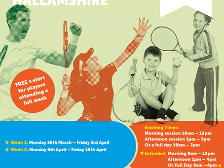 Easter Tennis Camps 2020