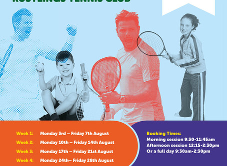 Summer Tennis Camps @ Rustlings Tennis Club!!