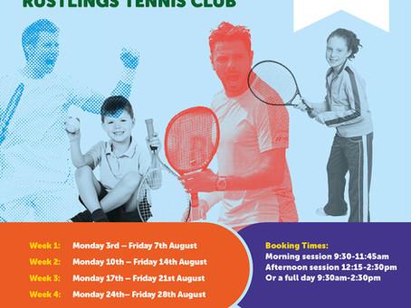 Summer Tennis Camps @ Rustlings Tennis Club!!