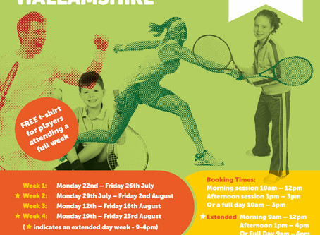 Summer Tennis Camps @ Hallamshire
