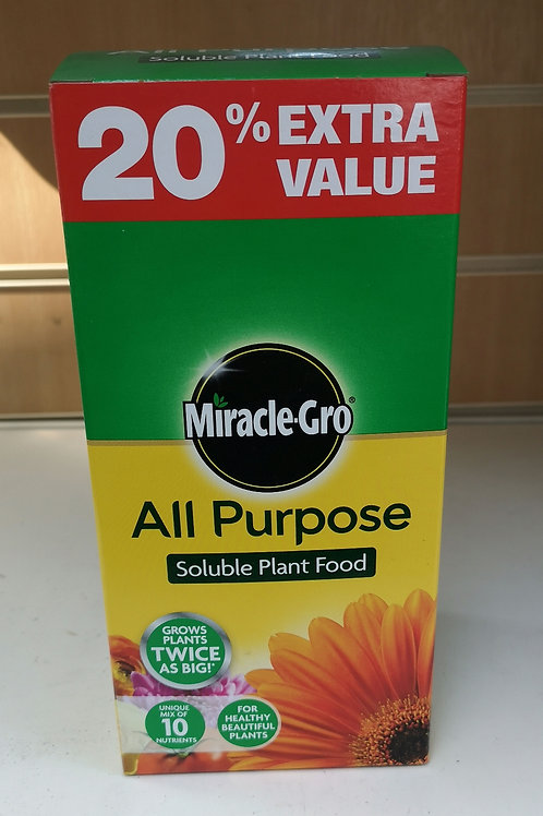 Miracle-Gro all purpose soluble plant food 1kg +20% extra free