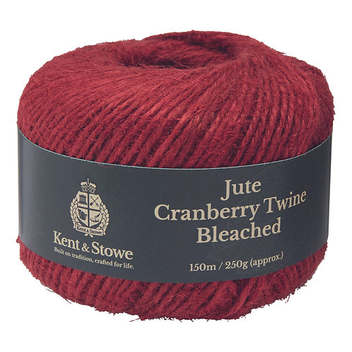 Kent & Stowe Jute Cranberry Twine Bleached