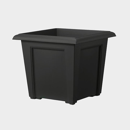 Stewarts Regency Square planter Black