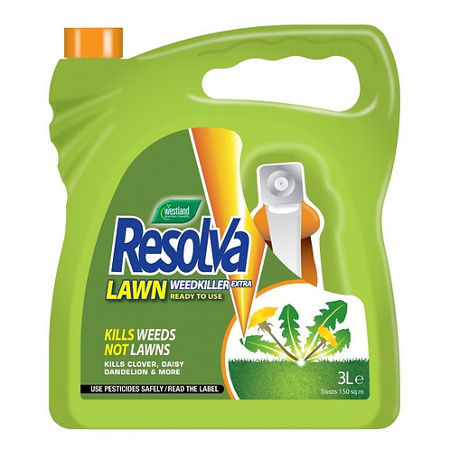 Westland Resolva Lawn WeedKiller Extra Ready To Use 3L