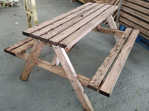 Treated 6 seater Picnic bench