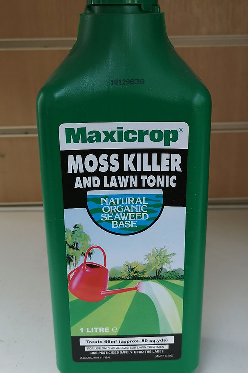 Maxicrop moss killer and lawn tonic 1L conc.