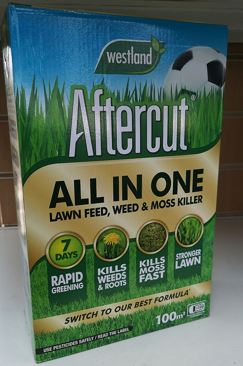 Westland 100m2 Aftercut All In One Lawn Feed, Weed & Moss Killer