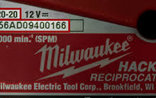 Milwaukee Tool Serial Number Date