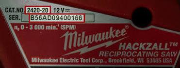 milwaukee 48 11 1850 serial number