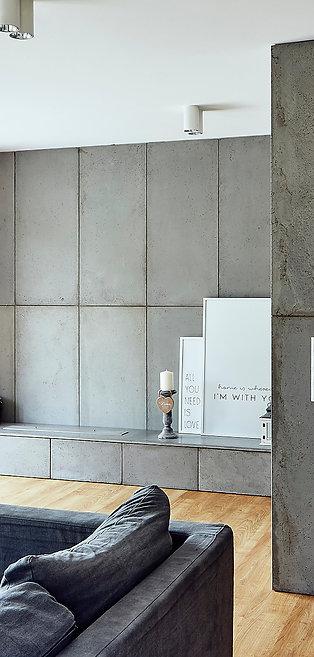 Płyty betonowe GRC 11 mm na ścianę
