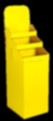 Yellow corrugated retail display