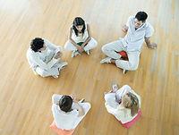 Psychodrama group sitting