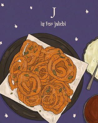 J is for Jalebi.