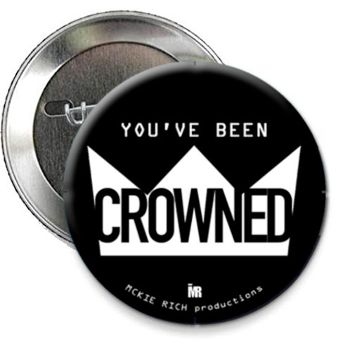 'Crowned' Button Pin