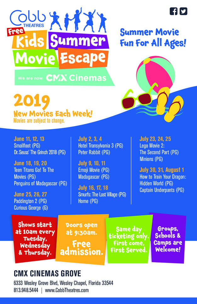 Free & Cheap Summer Movies 2019