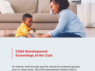 Child Development Info & Screenings at no Cost