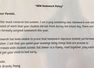 Teacher's No Homework Policy Goes Viral
