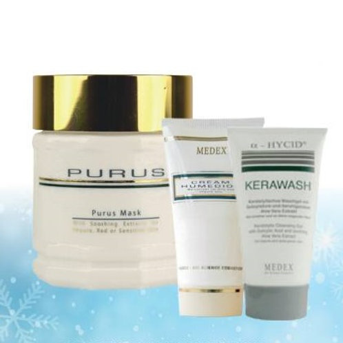 Medex pakketilbud: Purus Mask, Kerawash og Creme Humedios