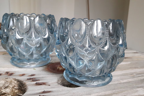 Bubbles glas - Lys blå
