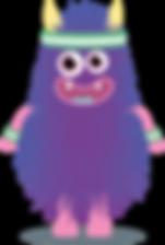 Subscription box purple monster