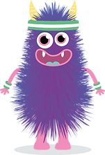 Subscription box purple monster
