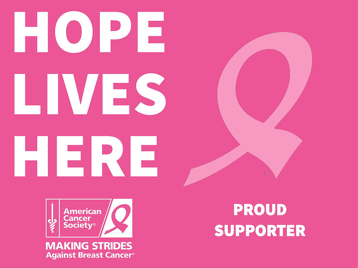 Fight Cancer Proud Supporter Sign