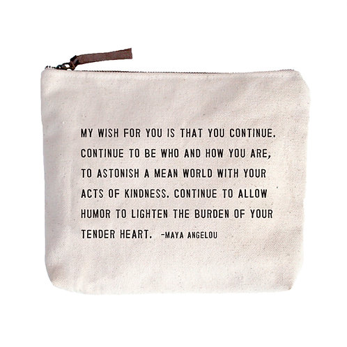 Maya Angelou Canvas Bag