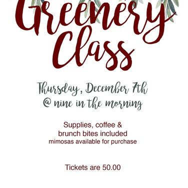 Greenery Class