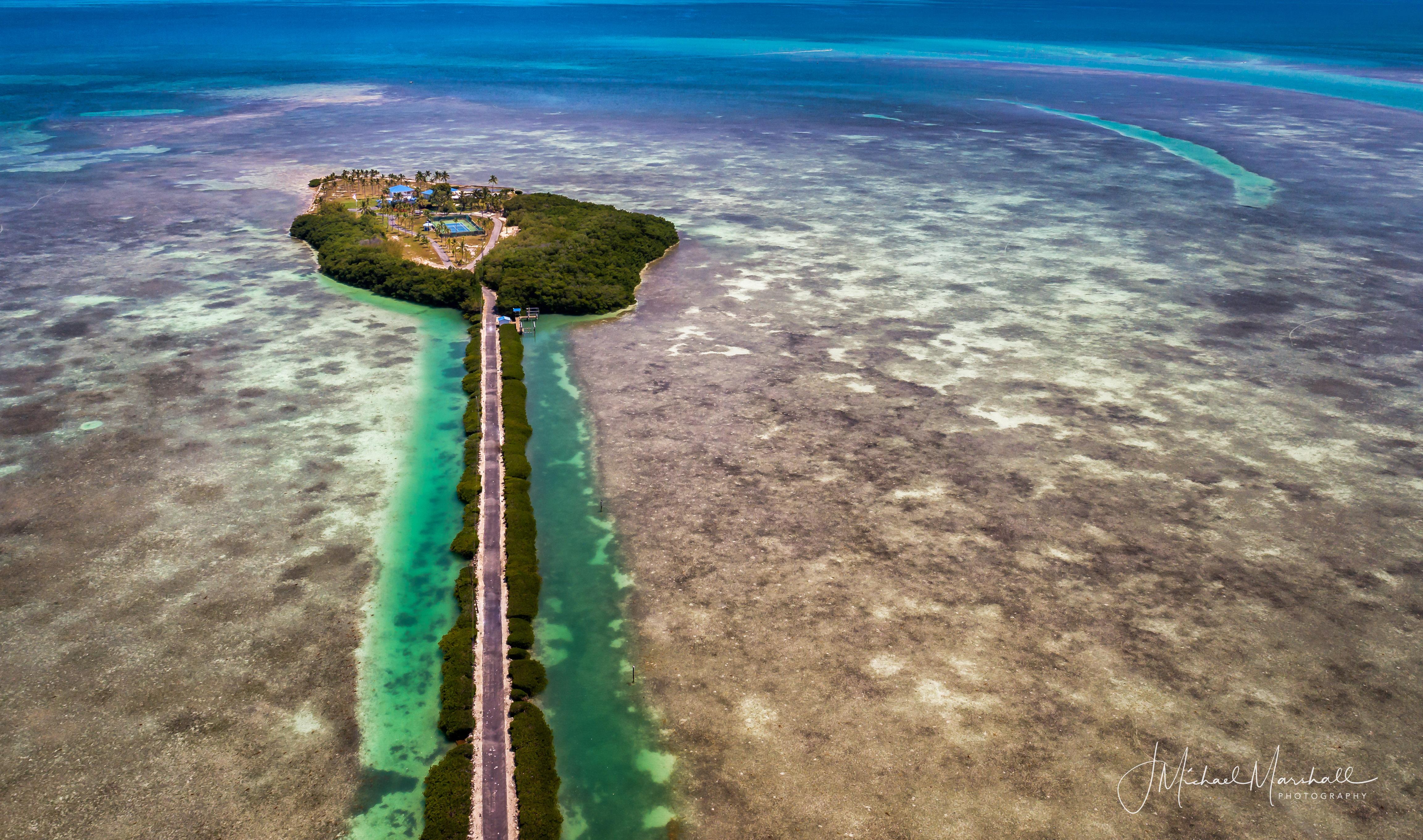 Open Water Island Overhead