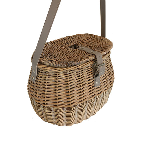 Willow Woven Fishing Basket