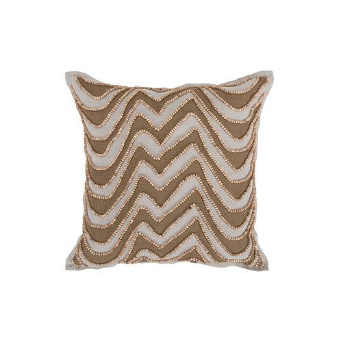 Belgian Flax Linen Beaded Pillow