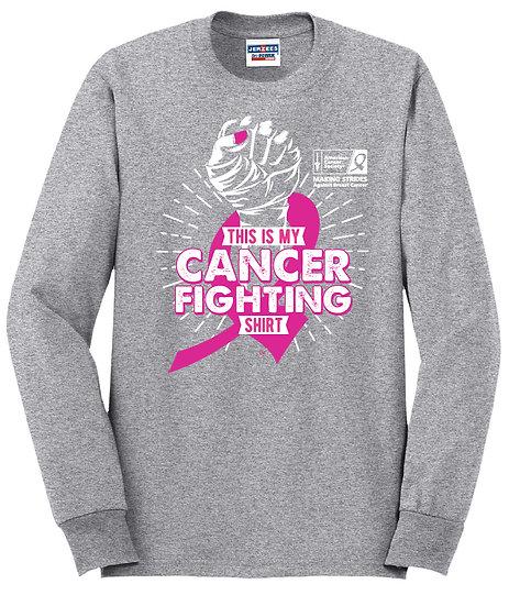 Fight Cancer Crewneck Sweatshirt - Grey
