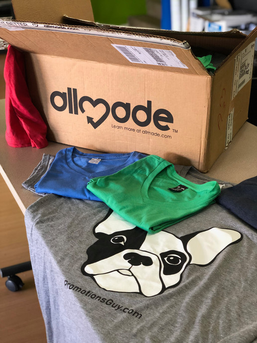 Promotions Guy branded Allmade apparel