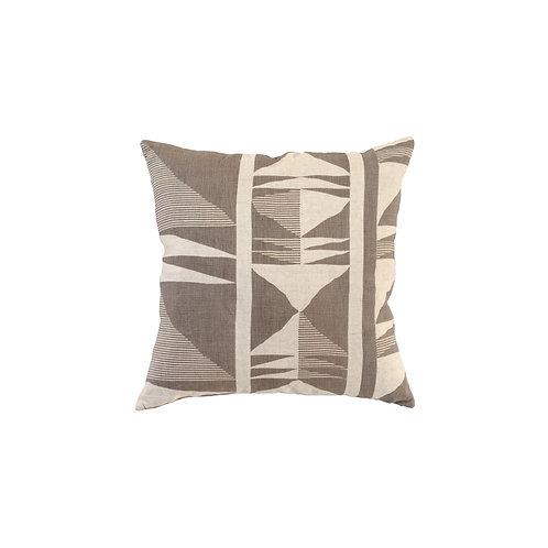 Geometric Belgian Flax Linen Pillow