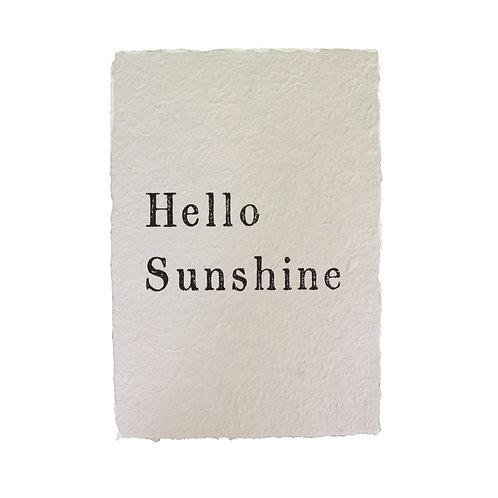 """""""Hello Sunshine"""" Paper Print"""