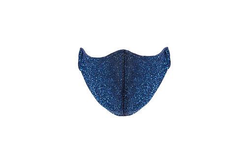 Blue shimmer face mask