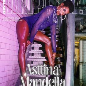 Asttina Mandella wearing custom Dylan Joel for Gay Times cover